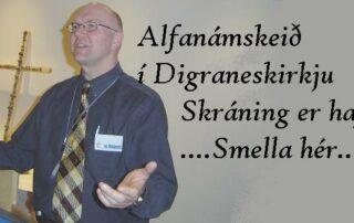 Sr. Magnús á Alfanámskeiði