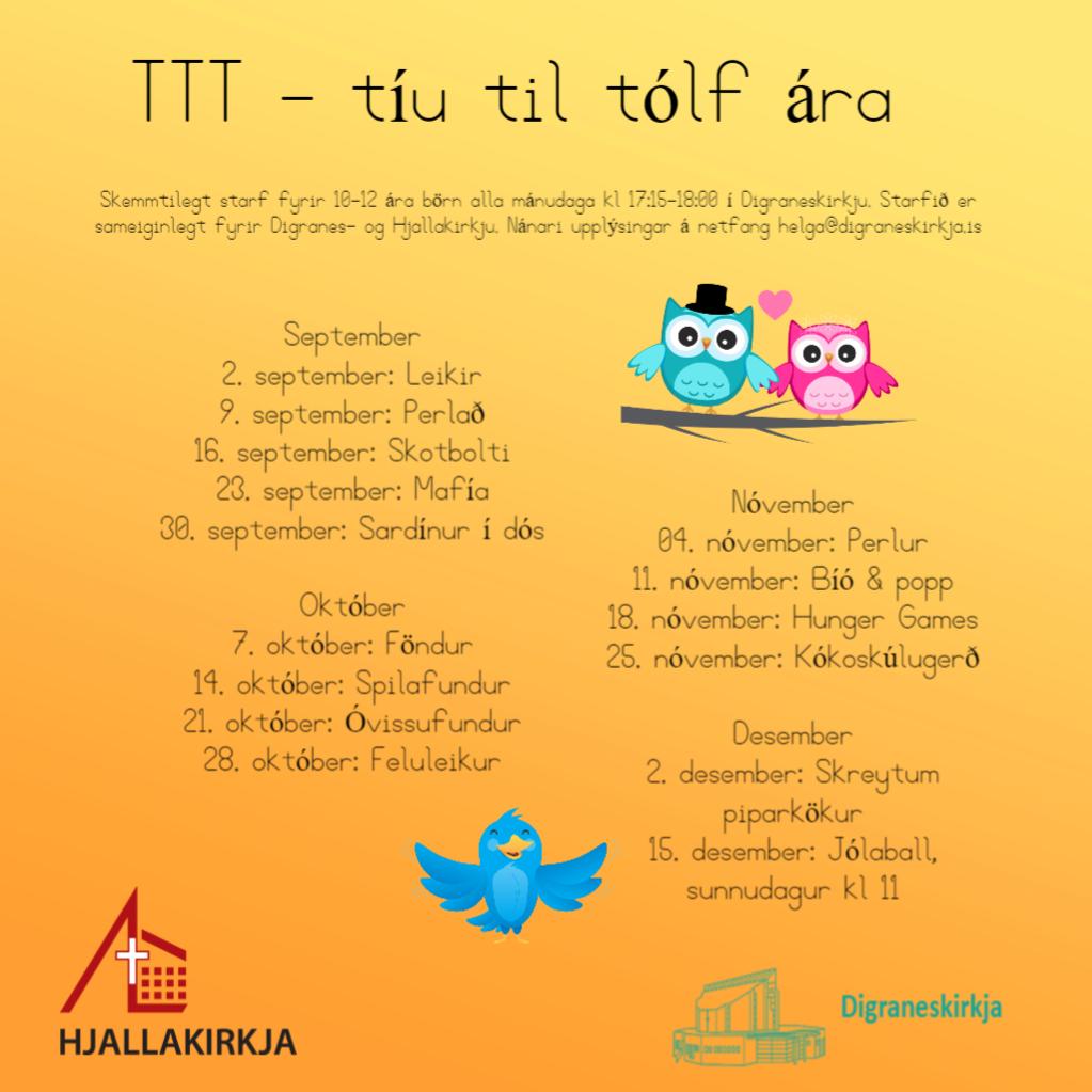 TTT dagskrá